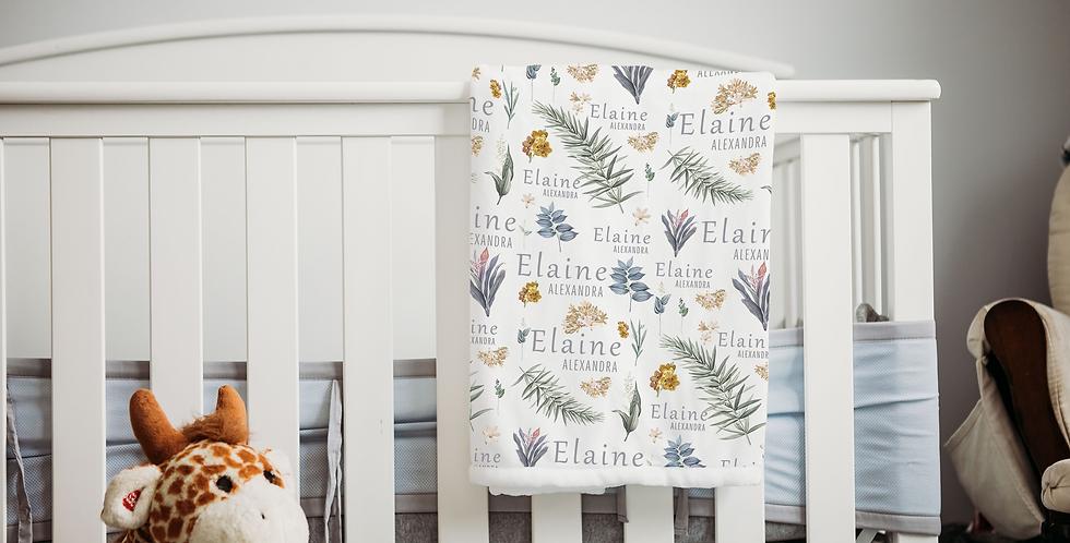 Custom Name Baby Blanket - Hawaiian Floral