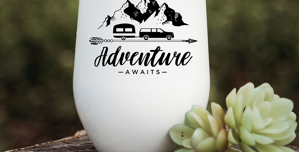 Adventure Awaits Wine Tumbler