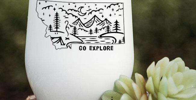 Go Explore Montana Wine Tumbler