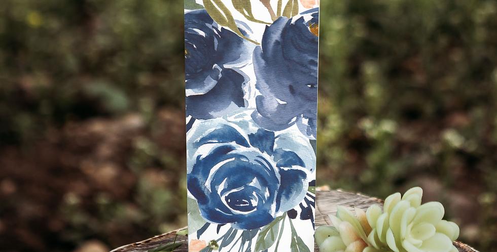 Floral custom 20 oz skinny tumbler