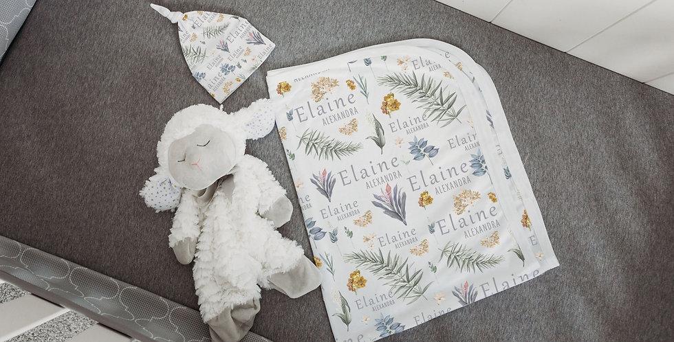 Custom Name Baby Swaddle - Hawaiian Floral