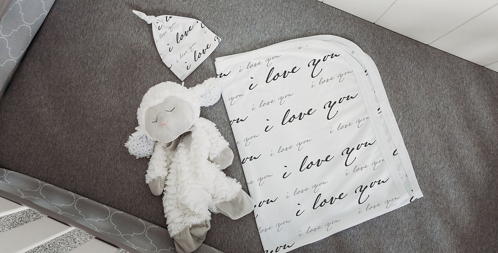 Custom Name Baby Swaddle - I love you