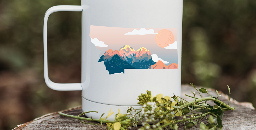 Montana Cloudy Pink Sunset Coffee Tumbler