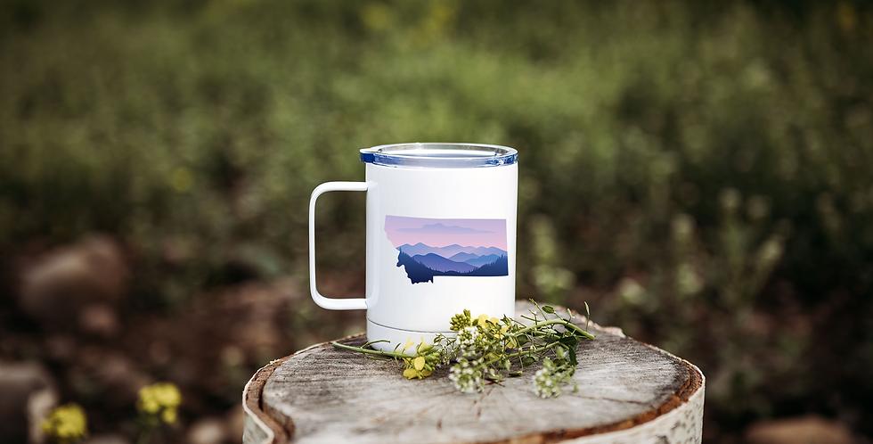 Purple Montana Sunset Coffee Tumbler