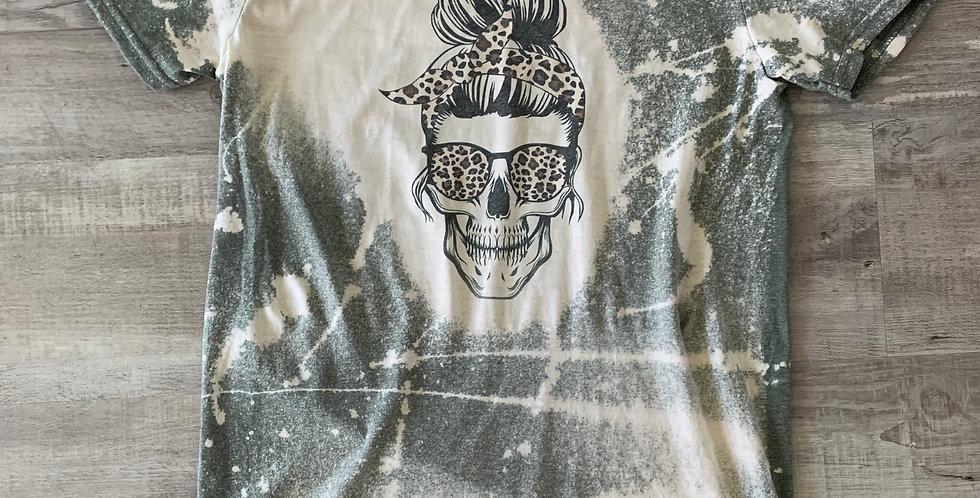 Skeleton Mom Dyed T-Shirt