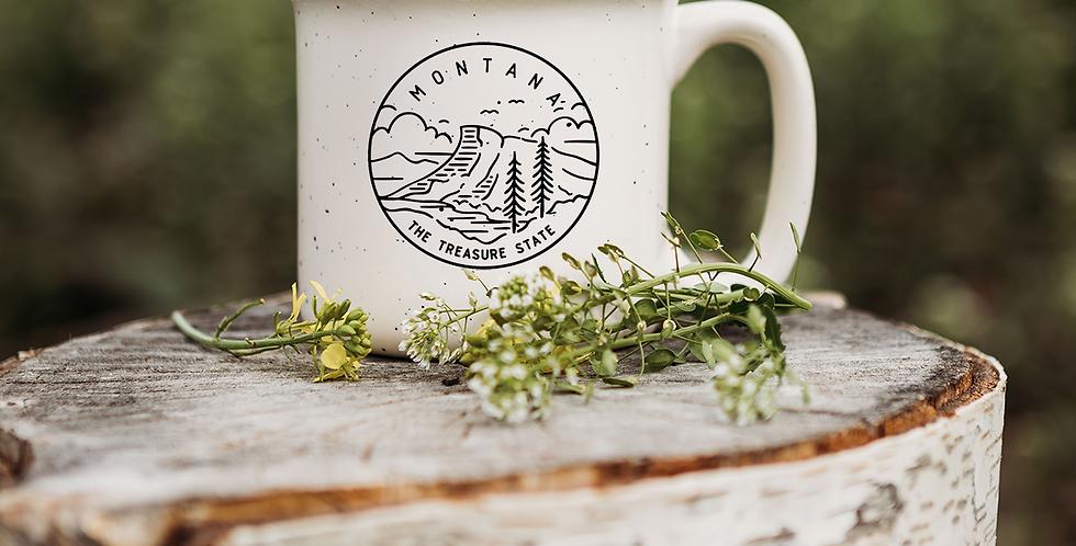 Montana Treasure State Speckled Campfire Mug