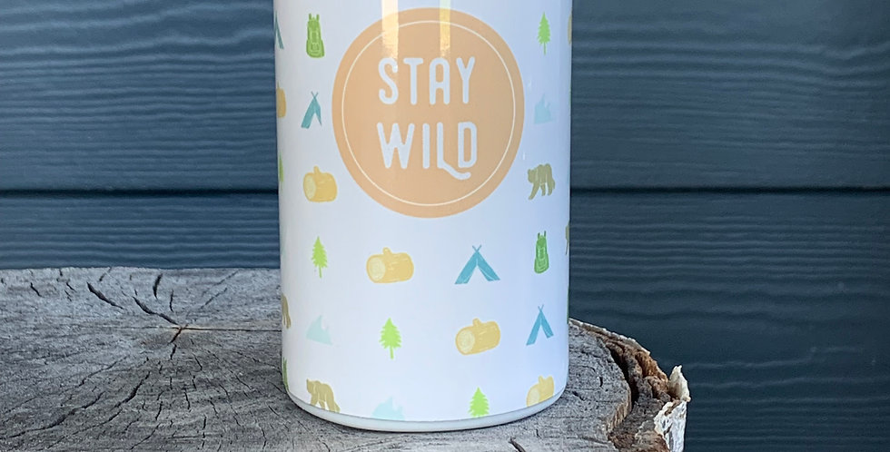 Stay Wild Skinny Can Cooler