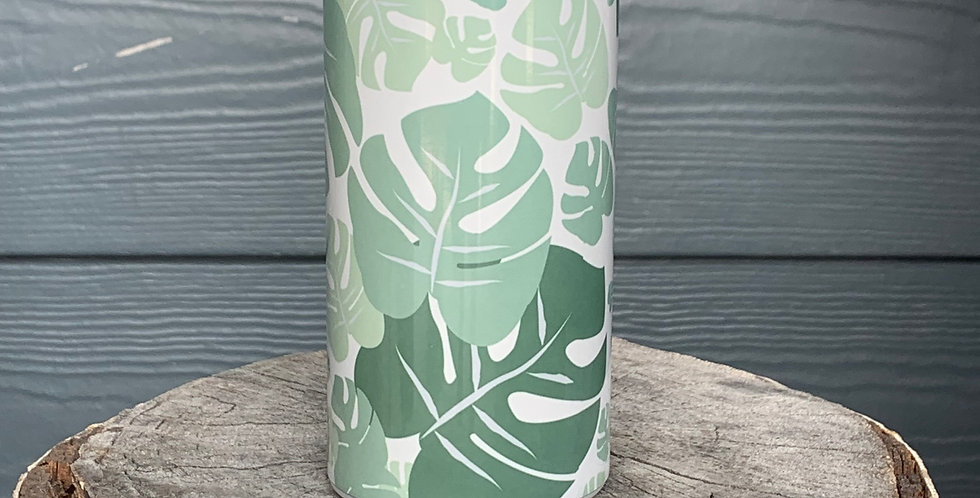 Green Leafy Skinny Can Cooler