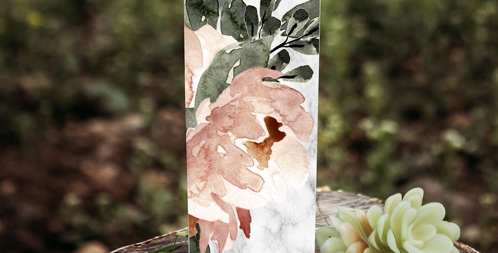 Pink Floral custom 20 oz skinny tumbler