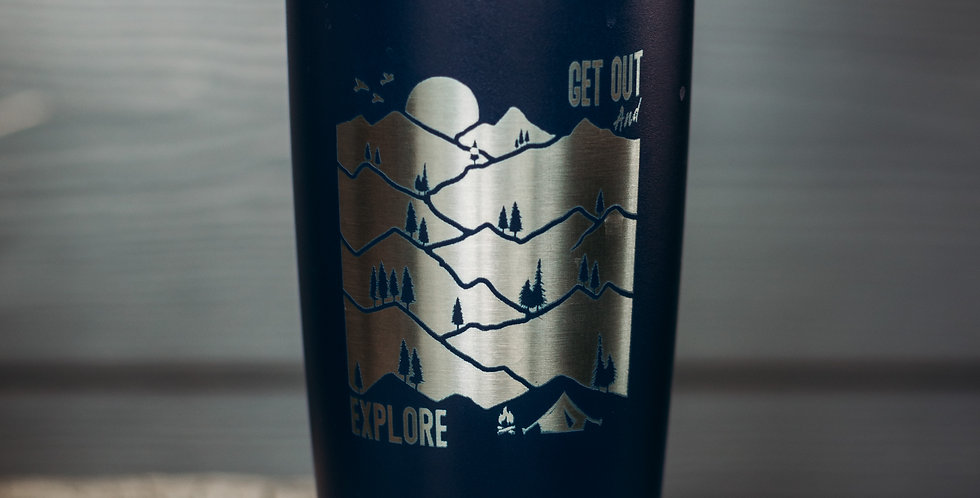 Get out & Explore 20oz Stainless Steel Tumbler