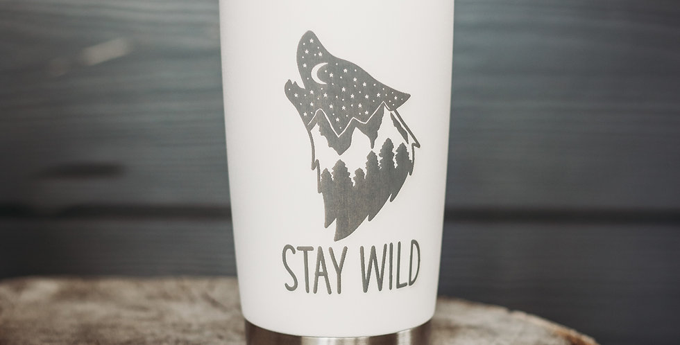 Wolf Stay Wild 20oz Stainless Steel Tumbler