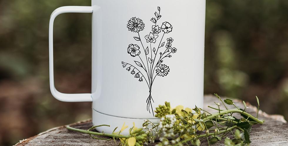 Wild Flower Bunch Coffee Tumbler
