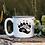 Thumbnail: Camping Bear Paw White Campfire Mug