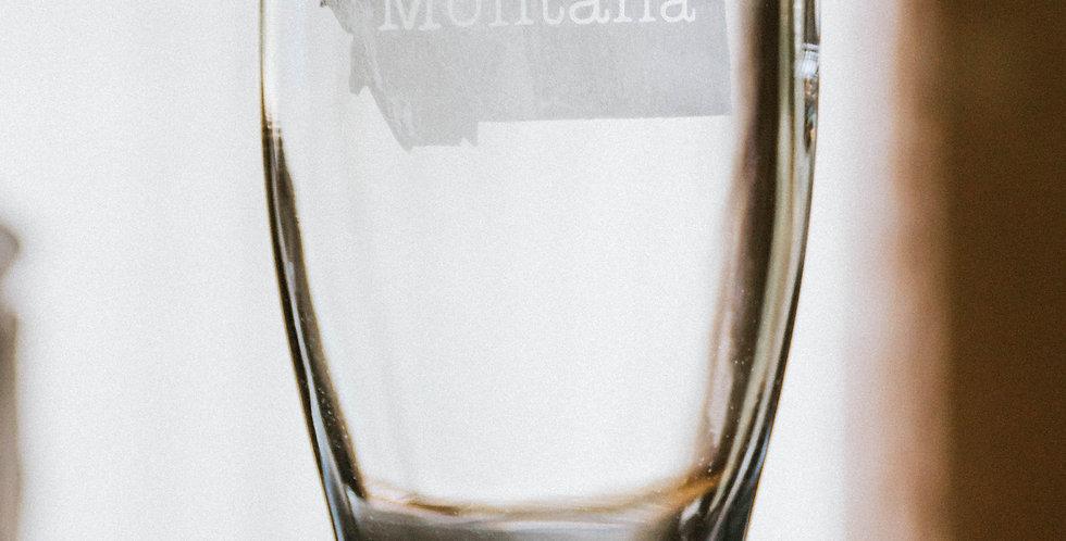 Pilsner Glass Montana State