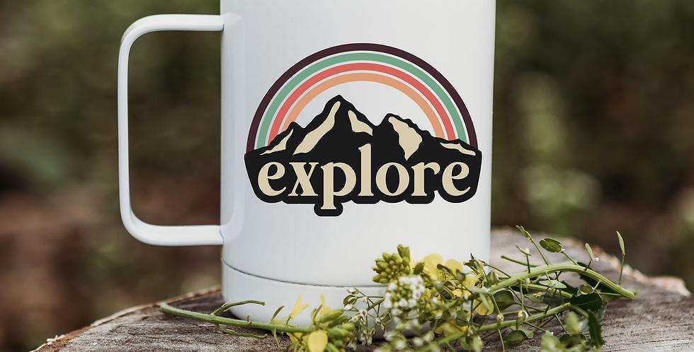 Retro Explore Coffee Tumbler