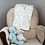 Thumbnail: Custom Name Baby Blanket - Floral Sage