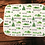 Thumbnail: Custom Name Baby Swaddle - Green Mountain Forest