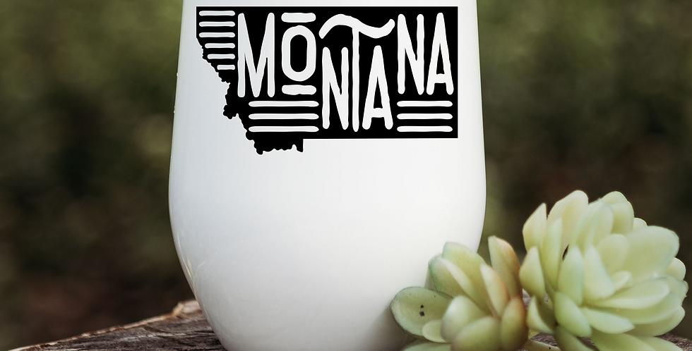 Funky Montana State Wine Tumbler