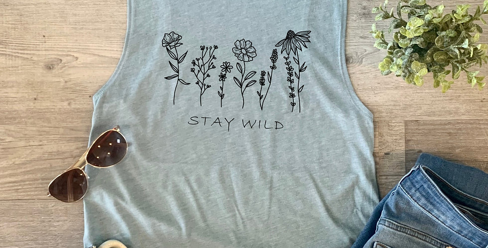 Stay Wild Wildflowers Tank Top