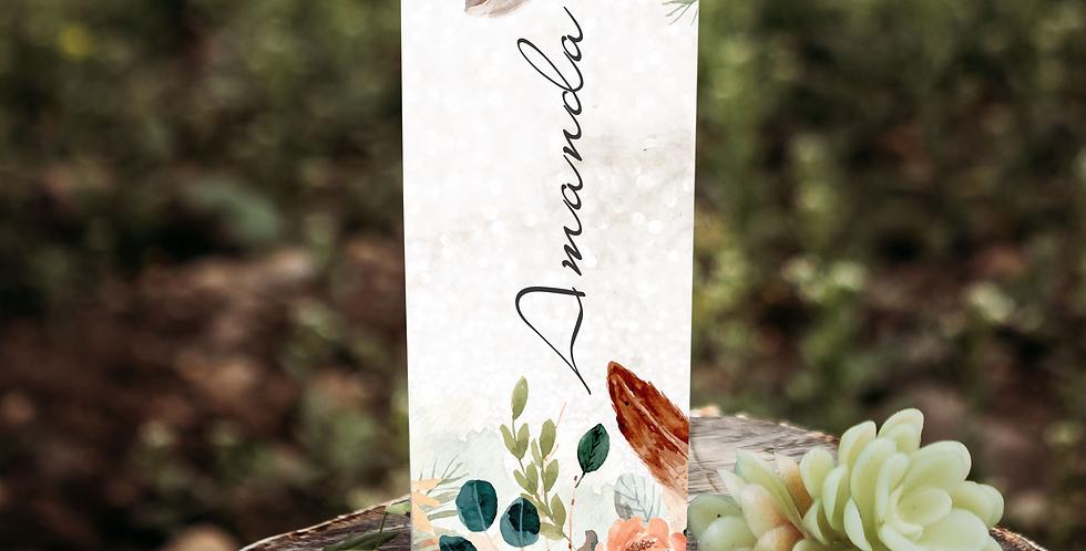 Name Floral custom 20 oz skinny tumbler