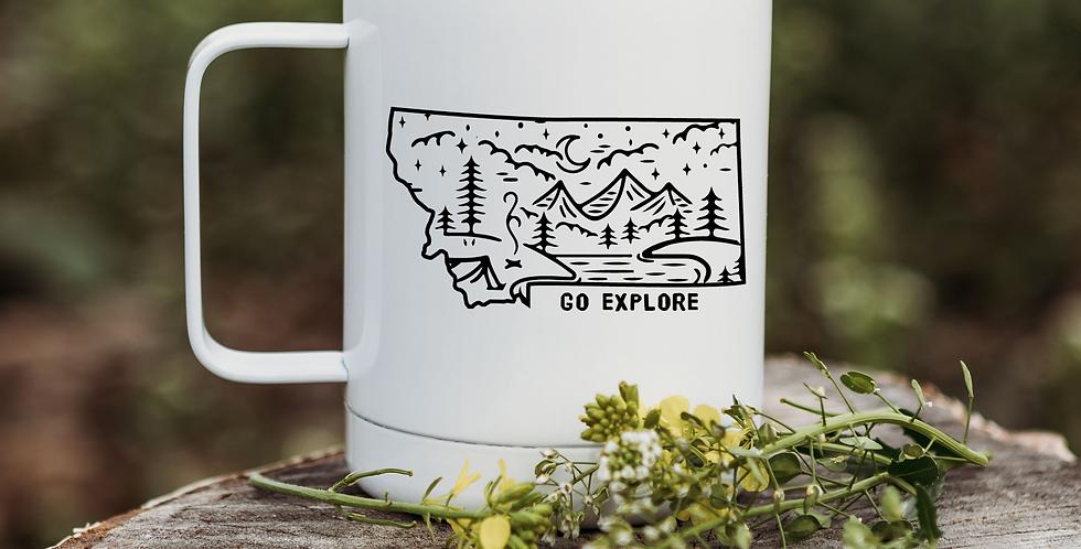 Go Explore Montana Coffee Tumbler