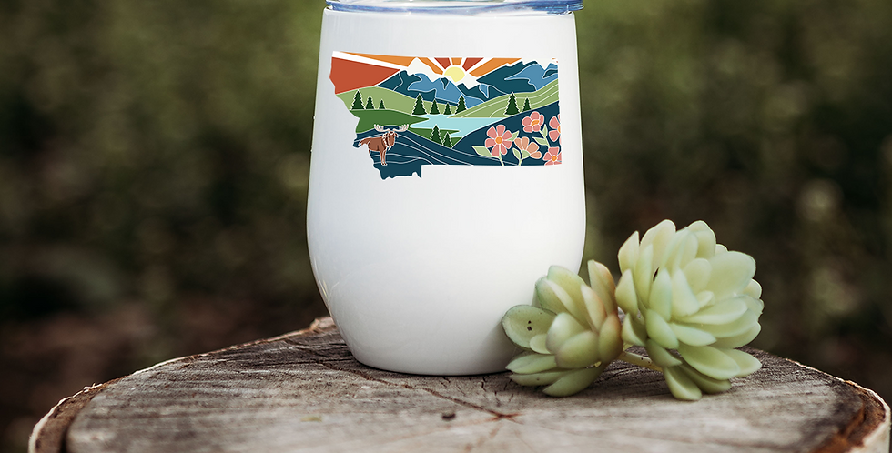 Montana Illustration Wine Tumbler