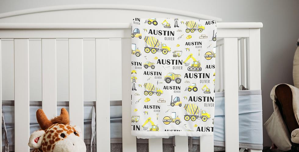 Custom Name Baby Blanket - Construction