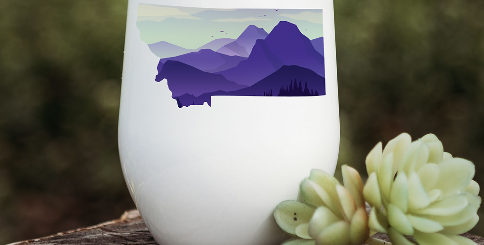 Purple Mountain Montana Wine Tumbler