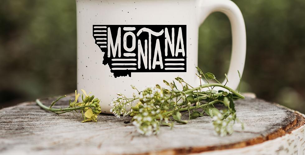 Funky Montana State Speckled Campfire Mug