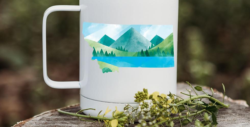 Montana Blue Mountain Illustration Coffee Tumbler