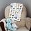 Thumbnail: Custom Name Baby Blanket- Zoo Animals