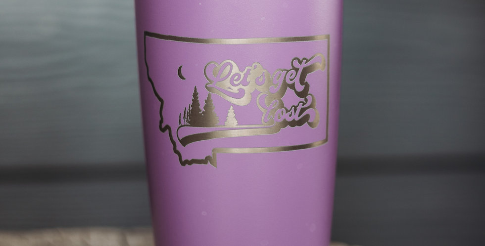 MT Get Lost 20oz Stainless Steel Tumbler