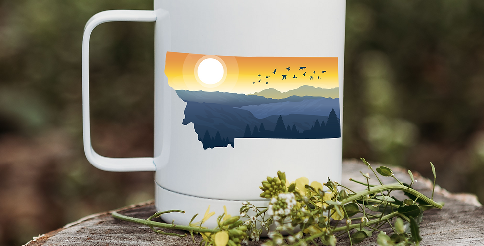 Montana Orange Sunset Coffee Tumbler