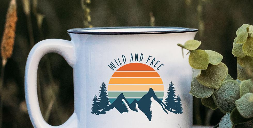Wild & Free White Campfire Mug