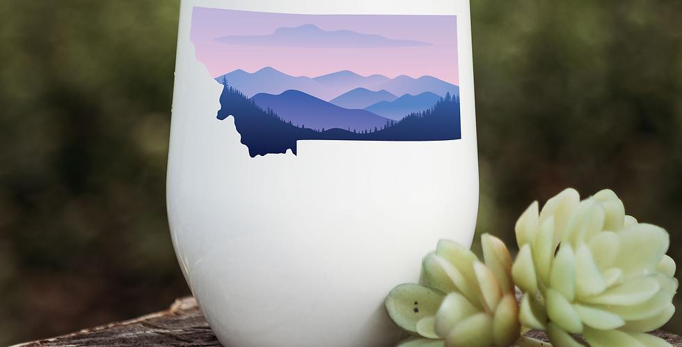 Purple Montana Sunset Wine Tumbler