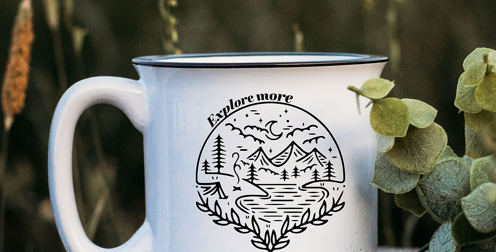 Explore More Scenery White Campfire Mug