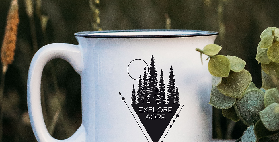 Explore More Triangle White Campfire Mug