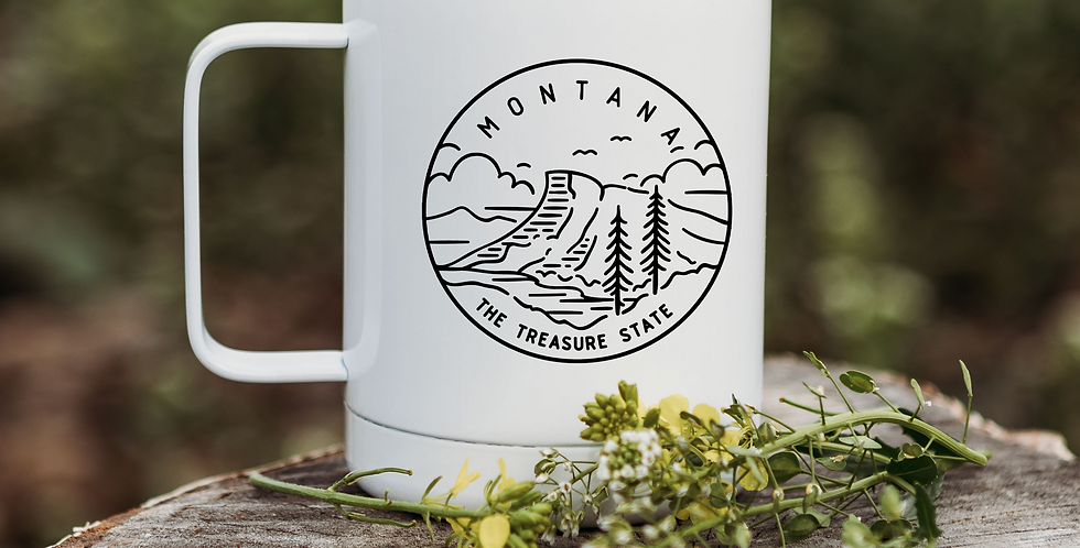 Montana Treasure State Coffee Tumbler