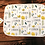 Thumbnail: Custom Name Baby Swaddle - Yellow Floral