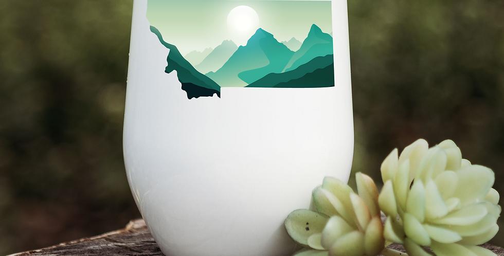 Montana Green Mountains Wine Tumbler