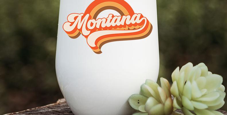 Retro Montana Wine Tumbler