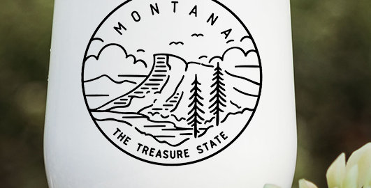 Montana Treasure State Wine Tumbler