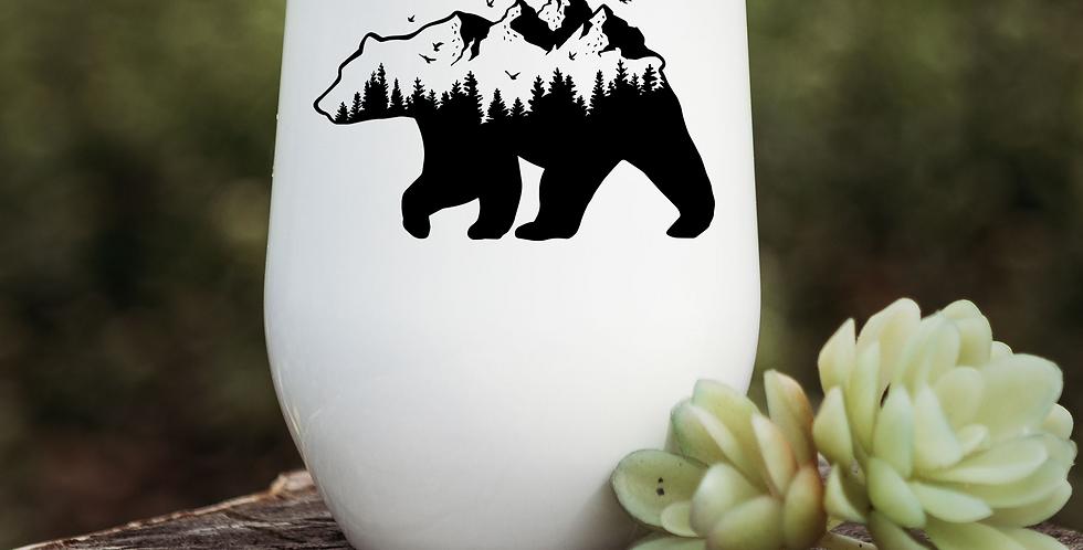 Mountain Bear Wine Tumbler