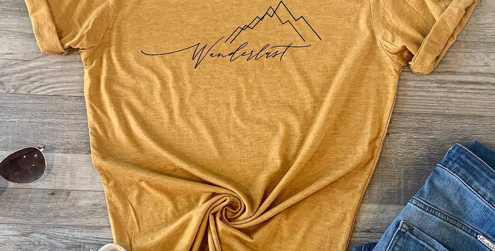 Cursive Wanderlust T-Shirt