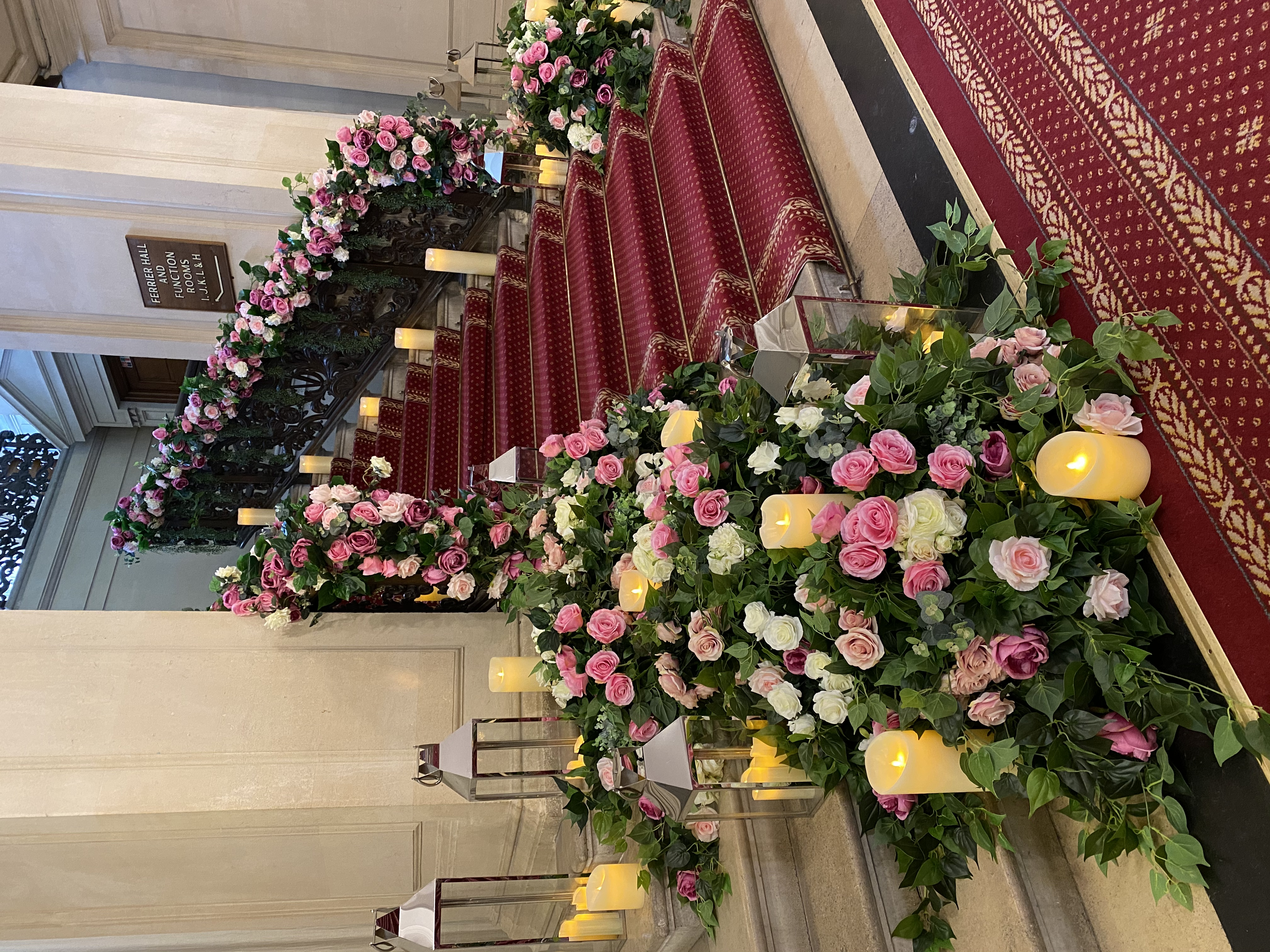 Cascading Floral Staircase