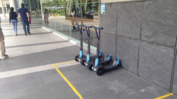 e-floater parking zone in Singapore