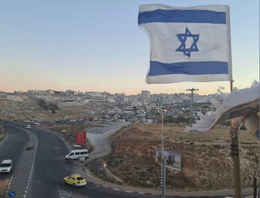 Israelische vlag in Judea