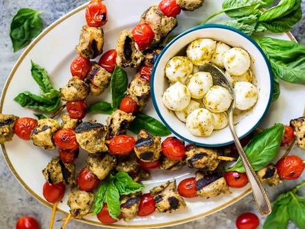 Grilled Pesto Chicken Skewers
