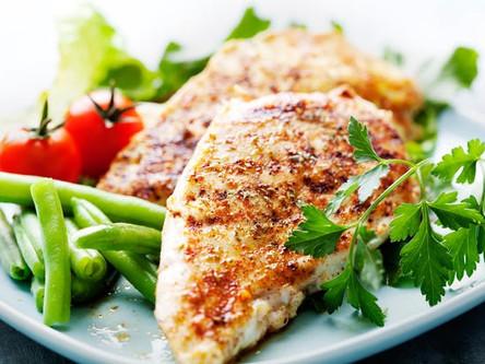 Garlic and lemon marinaded chicken breast