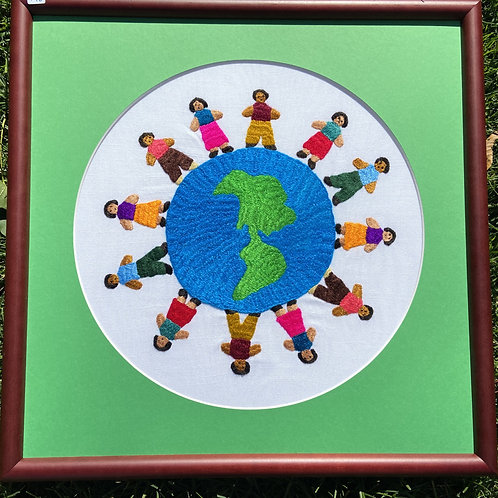 Circling the Americas Framed Art